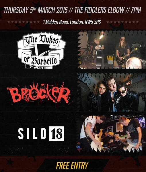 LONDON! We're playing the Fiddler's Elbow – Camden next Thursday 5th March. Our friends Silo 18 are …