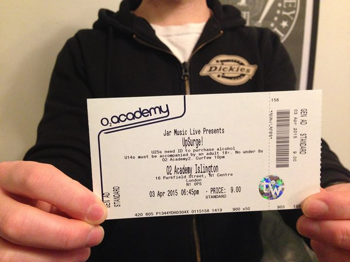 We're playing the O2 Academy Islington on Friday 3rd April. £8 advanced tickets! Who wants one?  Or…