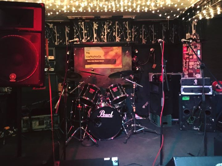Everything ready to rock tonight at The Corner House in Cambridge!