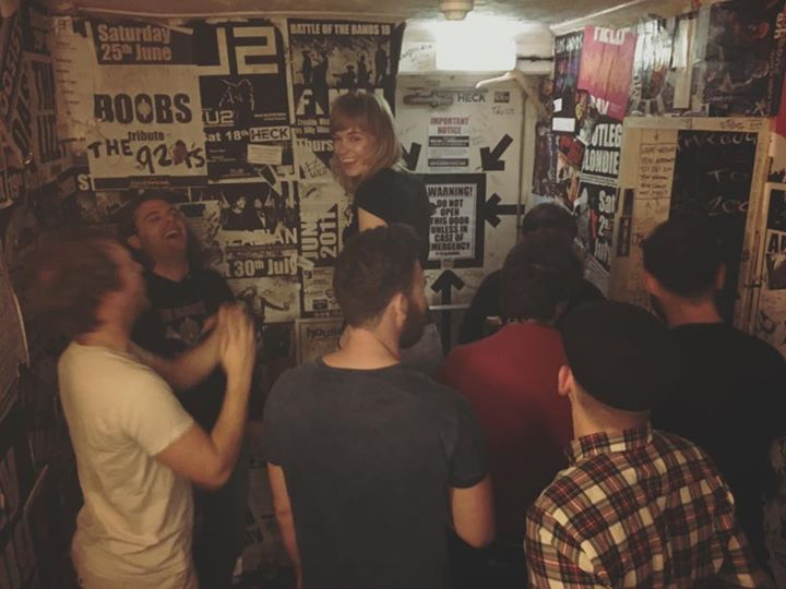Great session recording our new video. Here's Jade about to crowd surf! More soon!