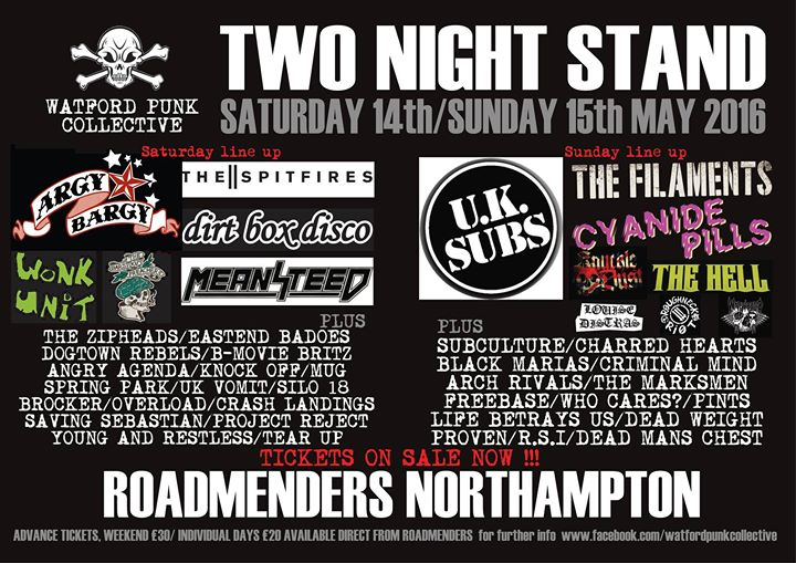 BROCKER is part of WPC's TWO NIGHT STAND !! festival at the Roadmender (Northampton) run by our mate…