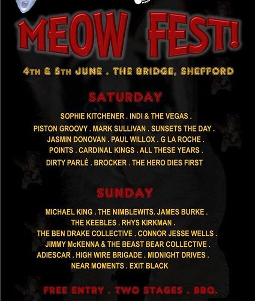 SHEFFORD! We're playing MEOW FEST! next Saturday 4th of June! It's been organized by the awesome act…