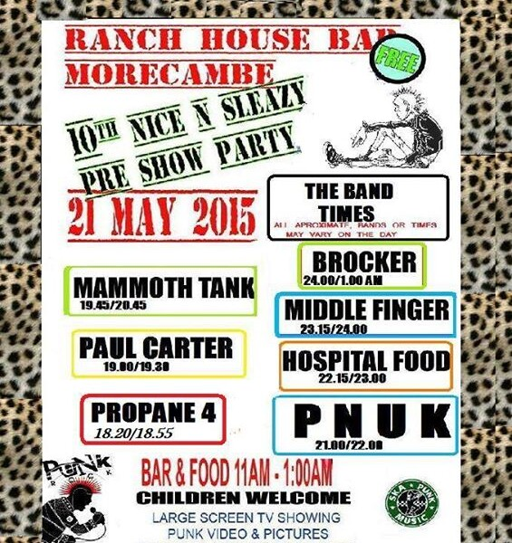 TONIGHT! We're going all the way to Morecambe to play at the Ranch House Bar for the NICE N SLEAZY p…
