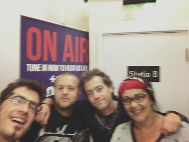 And here's a blurry picture of us with the lovely Denise Parsons at Radio Verulam 92.6FM after our s…