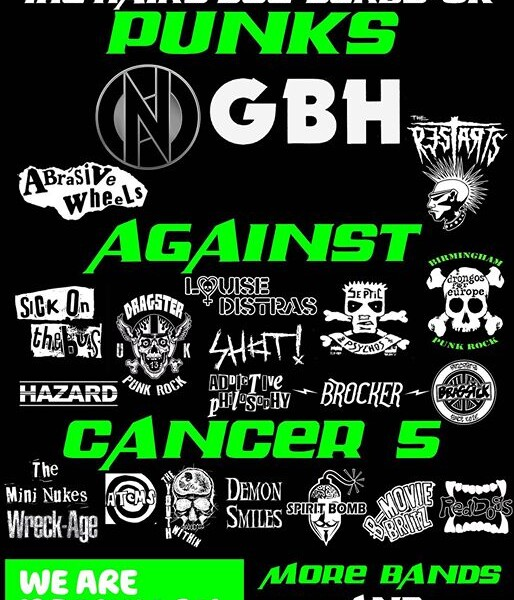 Over the moon to be part of this amazing festival next July Punks Against Cancer 5! Next two gigs th…