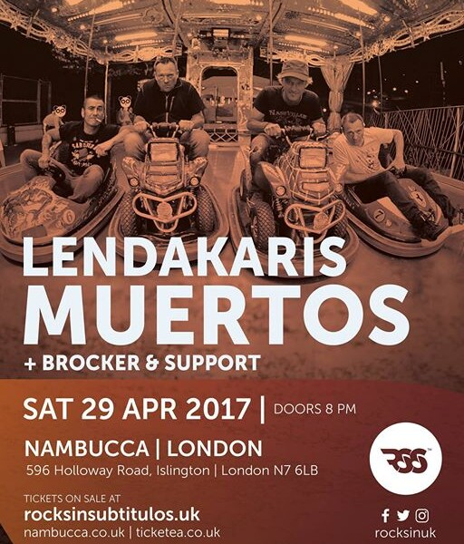 LONDONNNN!! April 29th we play at Nambucca supporting Spanish Punk legends Lendakaris Muertos! A mon…