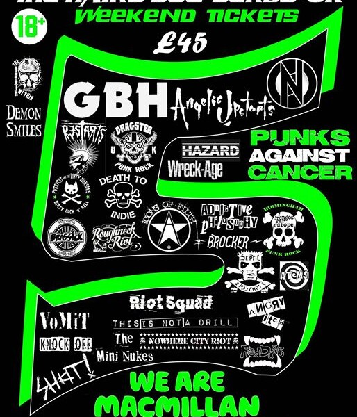 HOLA! Check out this line up! We're part of the amazing Punks Against Cancer 5! festival at The Hair…