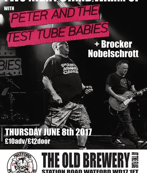 WATFORD! Our next gig will be on June 8th at The Flag, Watford supporting  Peter and the Test Tube B…
