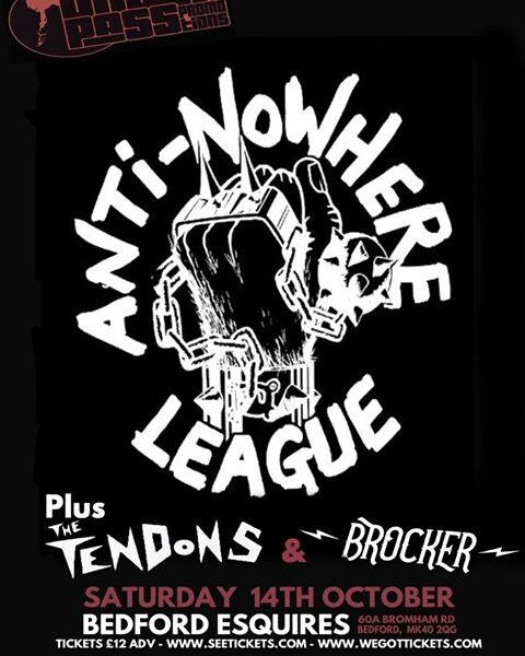 BEDFORD! Next one for us at Bedford Esquires supporting the amazing Anti-Nowhere League (Official). …