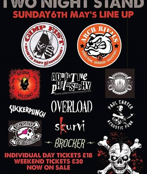 Watford Punk Collective Presents: Two Night Stand 3 SUNDAY May 6th line up! Doors 2pm #rocknroll #pu…