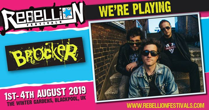 Honored to be playing Rebellion Punk Music Festival in August! 1,2,3,4!!   Day and time TBC  Tickets…