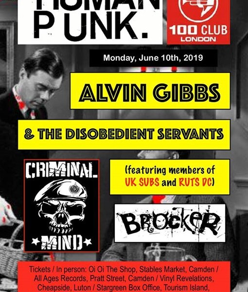 NEXT GIG! Our debut at The 100 Club​ will be on Monday (is the new Friday) 10th of June with Crimi…